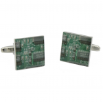 Green Circuit Board Cufflinks