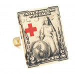 Red Cross Stamp Cufflinks