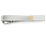 Two Tone Engravable Tie Bar