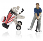 Golfer and Bag Cufflinks
