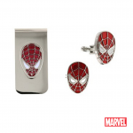 Spiderman Cufflinks & Money Clip Set