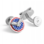 Round Patriotic Eagle Cufflinks