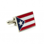 Patriotic Puerto Rican Flag Cufflinks