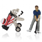 Golfer and Bag Cufflinks