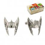 Silver Thor Superhero Helmet Cufflinks
