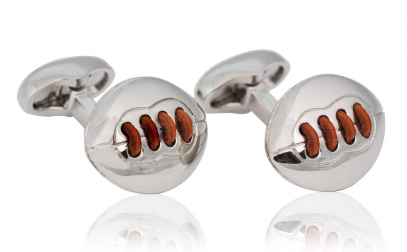 Football Themed Cufflinks to Celebrate Your Favorite Team