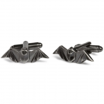 Gunmetal Origami Bat Cufflinks by Simon Carter
