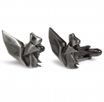 Gunmetal Origami Squirrel Cufflinks