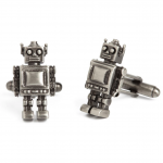 Antique Finished Vintage Robots Cufflinks