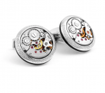 Silver Vintage Skeleton Watch Cufflinks