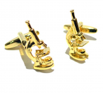 Gold Scientific Microscope Cufflinks