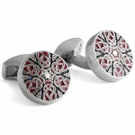 Red And Navy Star Weave Cufflinks