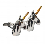Two Tone Unicorn Head Cufflinks
