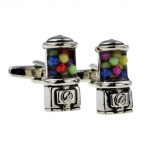 Gumball Bubble Gum Machine Cufflinks
