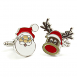 Santa And Reindeer Cufflinks