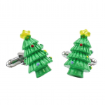 Green Christmas Tree 3D Cufflinks