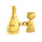 Champagne Bottle & Cork Cufflinks