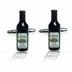 Red Wine Bottle Cufflinks