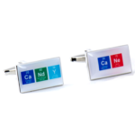 Candy Cane Chemical Table Cufflinks
