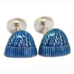 Blue Wooly Hat Cufflinks