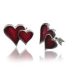 Sterling Silver Double Heart Cufflinks