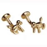 Gold Tone Balloon Monkey Cufflinks
