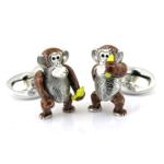 Sterling Moving Monkey Cufflinks