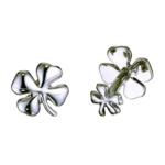 Sterling Four-Leaf Clover Cufflinks