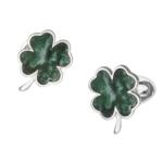 Green Onyx Four Leaf Clover Cufflinks