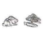 Rabbit and Carrot Cuff Links for Easter