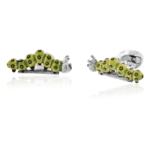 Green Sterling Caterpillar Cufflinks