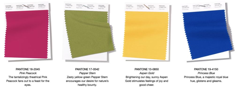 4 Pantone Colors 2019