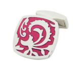 Pink Flourish Cufflinks
