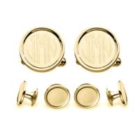 Engravable Gold Stud Set