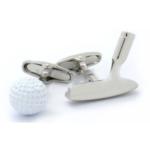 Colored Golf Putter & Ball Cufflinks