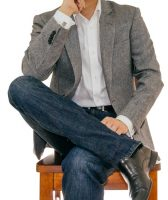 Casual man wearing cufflinks