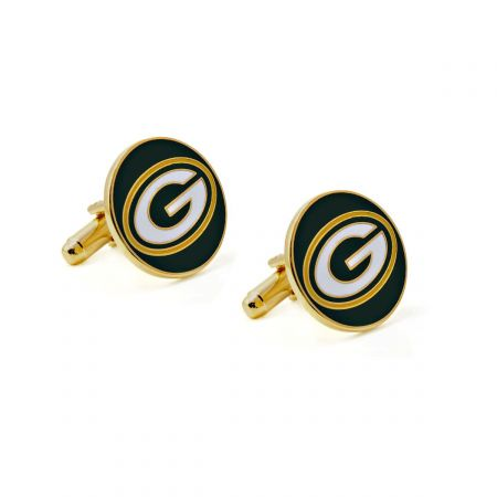 Cheese Wedge CUFFLINKS Football Cheesehead Wisconsin Green Bay Packers Rodgers