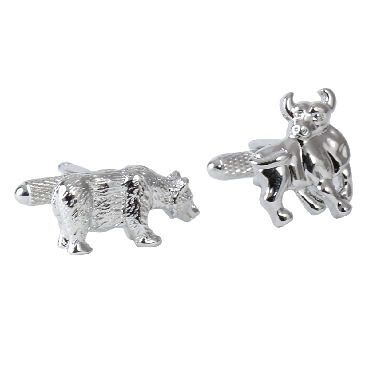 Select Gifts Cuff Links Stockmarket Cufflinks~Financial~Bull /& Bear Engraved Personalised Box