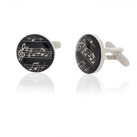 Music Musical Black Grand Piano Cufflinks