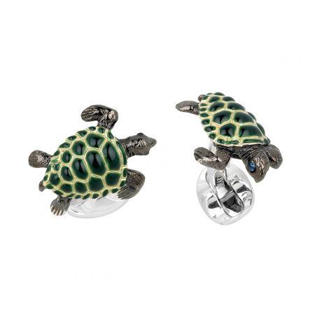 Silver Sea Turtle Cufflinks