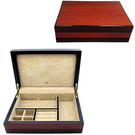 Teak Veneer Cufflink Jewelry Box Cufflinks Depot
