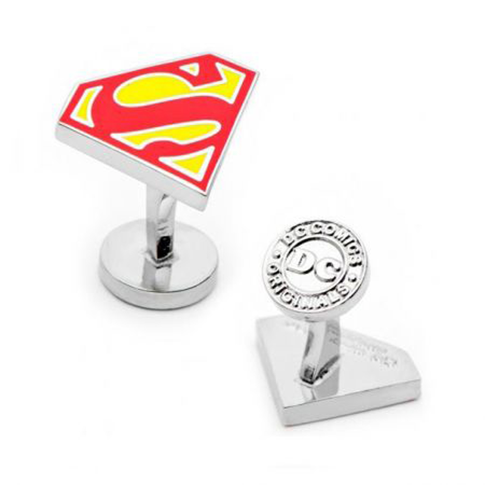 135d1c89ef3e Enamel Superman Shield Cufflinks: Cufflinks Depot
