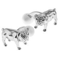 Bull Dog Cats Eye Cufflinks