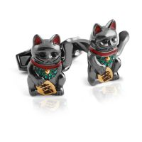 Good Fortune Cat Cufflinks