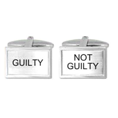 Guilty or Not Guilty Cufflink Cufflinks Depot