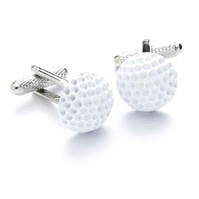 White golf ball cufflinks cufflinks depot for Golf buflings