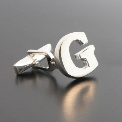 sterling letter g cufflinks