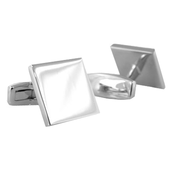 Sterling Square Engravable Cufflinks