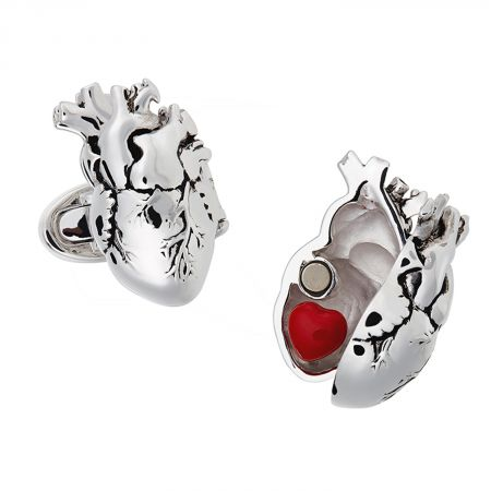 gothic organs, Anatomical heart stainless steel cufflinks men/'s jewelry doctor