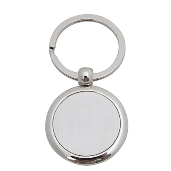 Silver Round Keychain